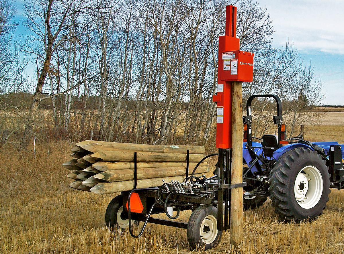 t post driver for tractor
